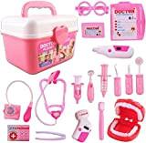 deAO Valigetta del Dottore e Dentista Set 2in1 Dottore e Infermieristica Clinica Dentale Gioco per Bambini Include 17 accessori Luci ...