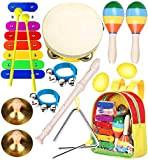 Smarkids Musicali Giocattolo Strumenti Set per Bambini Giocattolo Musicale a Percussione per Bambini Giocattoli Educativi Prescolari che Includono Xilofono Flauto ...