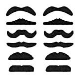 CARNEVALE Halloween falso baffi moustache gentiluomo NERO mm-70