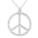 Collana con Segno Di Pace Hippy-Costume Accessorio 70 S LINEA DONNA 60 S party