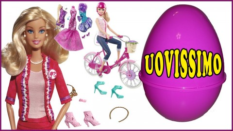 Bambola Barbie + accessori + bicicletta UOVISSIMO Unboxing/Review/Recensione